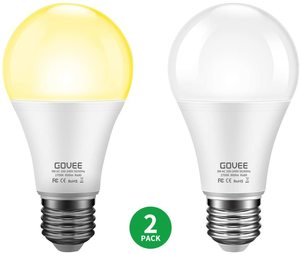 #3. Govee Dusk to Dawn 9W Light Bulb, (70 Watt Equivalent) E26E27 Holder