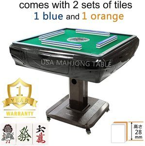 #4 148Tiles 28 mm Japanese Riichi Automatic Mahjong Table with 4 Wheels