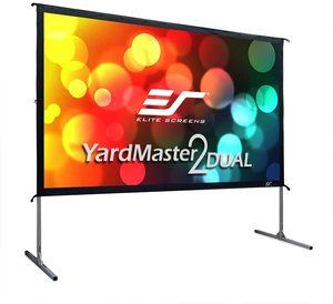 #4 Elite Screens Yardmaster 2 DUAL Projector Screen Rear