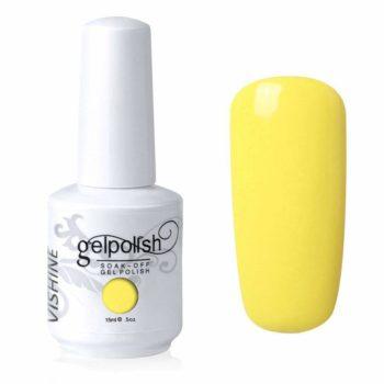 #4. Vishine Gel Polish UV LED Soak-off Nail Art Gel Polish Manicure Yellow (561)