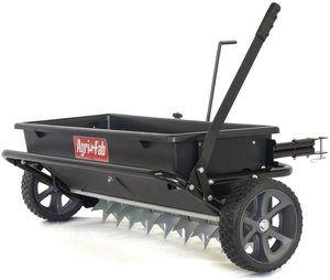 #5. Agri-Fab 45-0543 100 lb. Tow SpykerSeederSpreader, Black