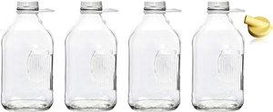 #6 The Dairy Shoppe Heavy Glass 64 Oz Jugs (2 Quart)