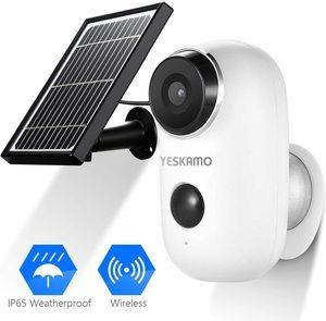 #6. Battery Security Camera 1080P HD, Wireless Solar Powered Camera