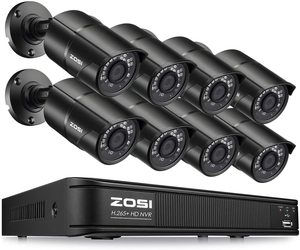 #6. ZOSI 1080p PoE Home Security Camera, 8CH 5MP System Outdoor Indoor