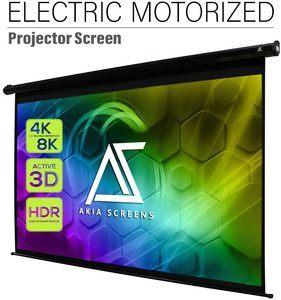 #7 Akia Screens 125 inch Motorized Electric Remote Screen 169 8K 4K