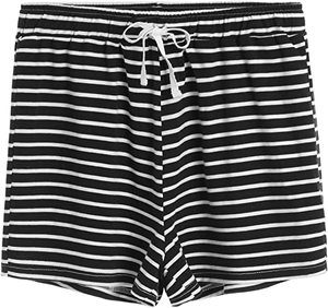 #7 Latuza Women's Cotton Striped Pajama Shorts