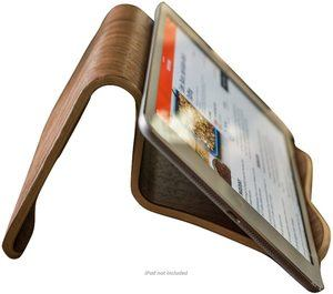 #7 Natural Walnut Wood CookBook and iPad Stand