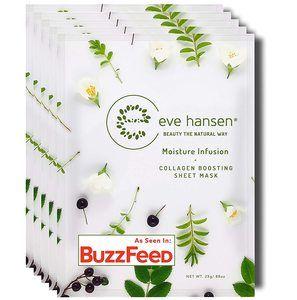 #7. Eve Hansen Collagen Face Mask Sheet Cruelty Free, Vegan friendly