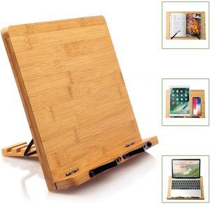 #8 Bamboo Book Stand Cookbook Holder