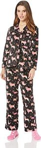 #8 Karen Neuburger Women's Minky Fleece Long Sleeve Pajama Set