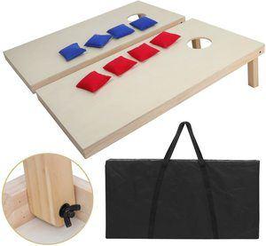 #8 ZENY Portable Solid Wood Premium Cornhole Set Regulation