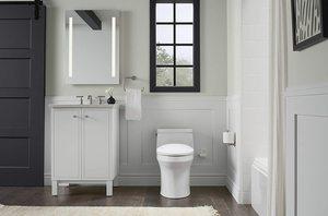 #8. KOHLER K-10349-0 PureWarmth White Heated Toilet Seat, Elongated,