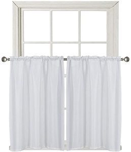 #9 Home Queen Waffle Waterproof Tier Curtains