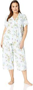 #9 Karen Neuburger Women's Floral Girlfriend Crop Short-Sleeve Pajama Set
