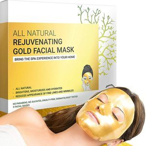 #9. Gold Facial Mask - Hydrogel Sheet Face Masks, Beauty and Skin Care