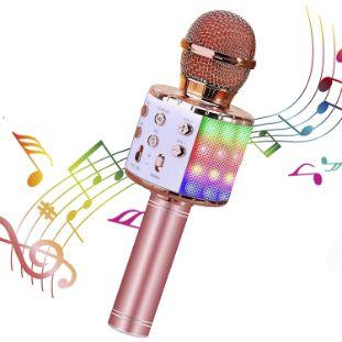 10. ShinePick Wireless 4 in 1 Bluetooth Karaoke Microphone