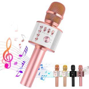 9. Ankuka Handheld Bluetooth Karaoke Microphone