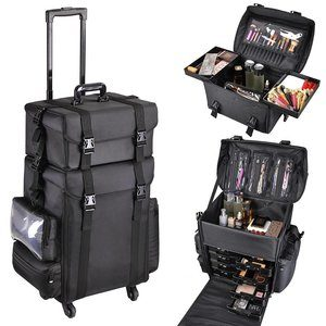 #1 AW Classic Black 2in1 Makeup Case