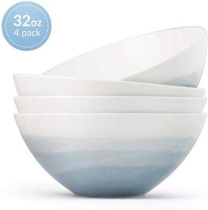 #10 Luna 4PC 6.7 Glacial Porcelain Bowls