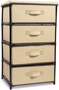#10. Juvale 4-Tier Brown Dresser Drawer Organizer