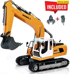 #2. DOUBLE E 17 Channel RC Excavator Full Functional
