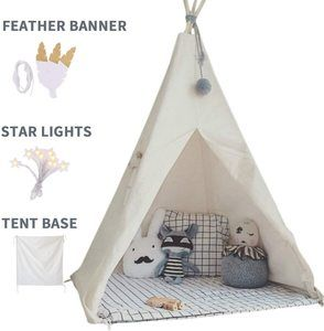 #2.little dove Kids Teepee Play Tent Foldable with Carry Case