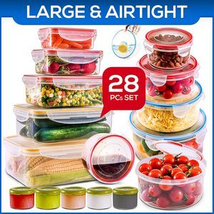 #3 28 PCs Large Food Storage Containers