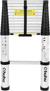 #3 Ohuhu 12.5 FT Telescopic Extension Aluminum Ladder