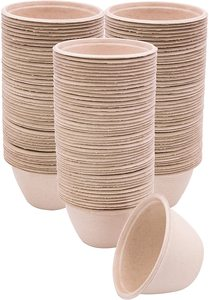 #4 100 Pk of 6-Ounce Compostable Bowls