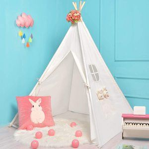 #5. Sumerice Teepee Tent 100% Natural Cotton Canvas Teepee