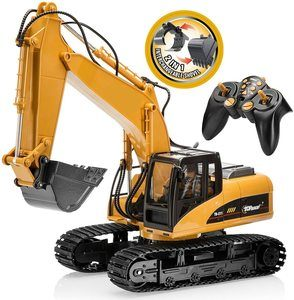 #5. Top Race 15 Channel Remote Control Excavator Full Functional