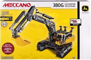 #6. Meccano-Erector –380G Excavator John Deere with Working Hydraulics