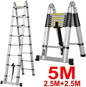#8 Oshion 16.5ft EN131 Aluminum Telescoping Ladder