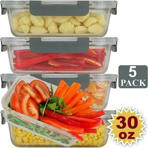 #9 Brieftons Glass Meal Prep Containers