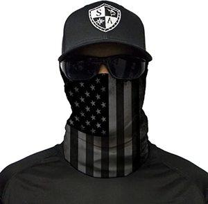 #9. American Flag Ski Mask Neck Gaiters for Men and Women