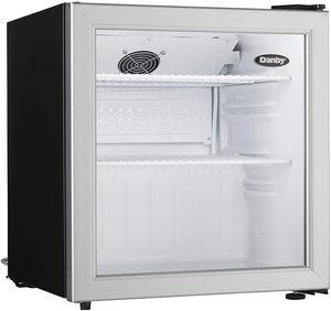 #10. DAG016A1BDB Glass Door Refrigerator with mini-fridge design