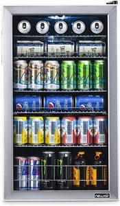 #2. 126 Freestanding Glass Door Refrigerator with mini-fridge design