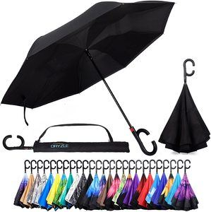 #3. Dryzle windproof Upside Down Umbrella