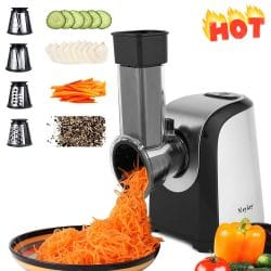 Professional Salad Maker, Electric Shredder Slicer Grater