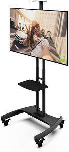 #5. Kanto MTM65PL Height Adjustable Mobile TV Stand