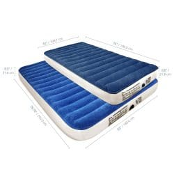 SoundAsleep Camping Series Twin Air Mattress with Eco-Friendly PVC