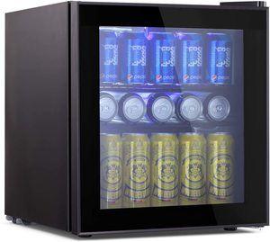 #6. Beverage glass door refrigerator with mini-fridge design