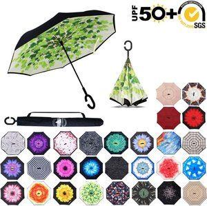 #6. Windproof Teflon repellant Upside Down Umbrella