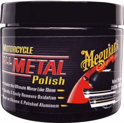 MEGUIAR'S All Metal Chrome Polish for Motorcycle 6 Ounces