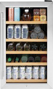 #9. GVS04BQNSS 19-inch glass door refrigerator with mini-fridge design