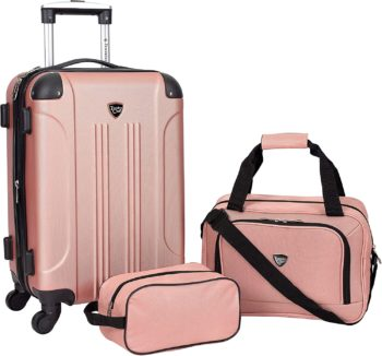 #10. Travelers club sky Rose Gold Luggage Set