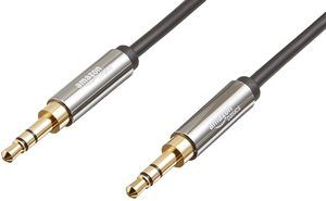 2. AmazonBasics 3.5 mm Male to Male Stereo Audio Aux Cable