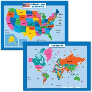 3. Palace Curriculum World Map and USA Map for Kids