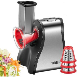 4. TIBEK Electric Slicer Grater, 5 in 1 Multi Shredder