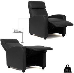 5. FDW Wingback Recliner Chair (Black)